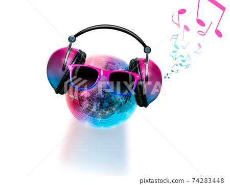 dj disco dancing music club party mirror ball 74283448