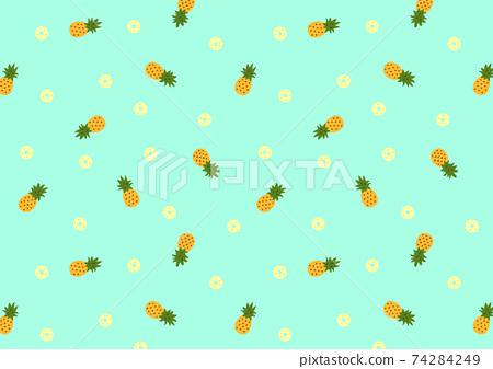 2way菠蘿圖案-藍色 74284249