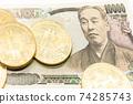 bitcoin and 10,000 yen bill 74285743
