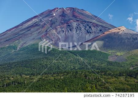 從水上塚看到的富士山和會營火山口 74287195
