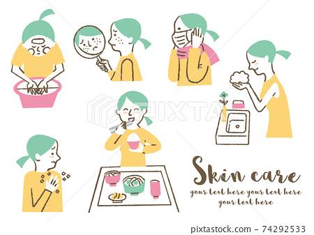 護膚品女性 74292533