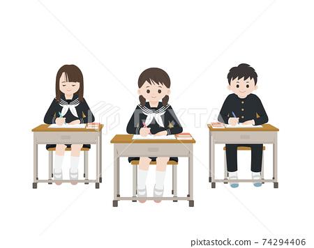 上課場景學生學習學生插圖素材 74294406