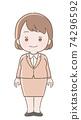 女性的插圖 74296592