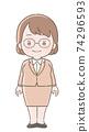 女性的插圖 74296593