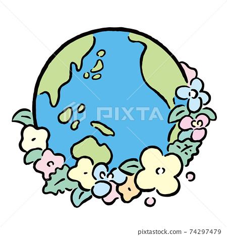 環境_地球_花 74297479