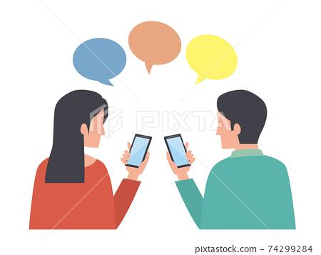 智能手機男女溝通 74299284