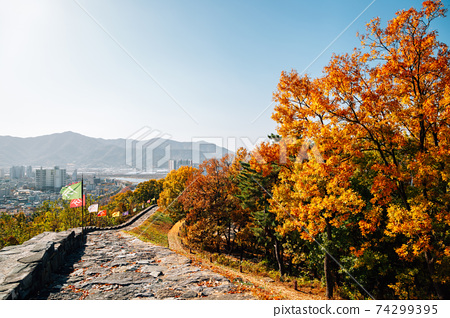 Miryang Eupseong Fortress at autumn in Miryang, Korea 74299395