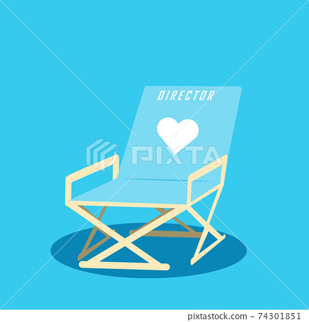 Director's private chair vector illustration 74301851