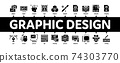 Graphic Design And Creativity Minimal Infographic Banner Vector 74303770
