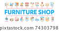 Furniture Shop Market Minimal Infographic Banner Vector 74303798