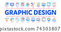 Graphic Design And Creativity Minimal Infographic Banner Vector 74303807
