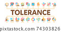 Tolerance And Equality Minimal Infographic Banner Vector 74303826