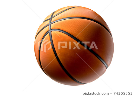 Basketball ball isolated on white background 74305353