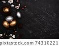 復活節 彩蛋 金色 銀色 梅花 Easter eggs golden black イースターエッグ 74310221