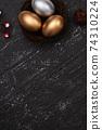 復活節 彩蛋 金色 銀色 梅花 Easter eggs golden black イースターエッグ 74310224