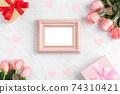情人節 禮物 禮物盒 玫瑰 粉色 Valentine's Day rose gift バレンタイン 74310421