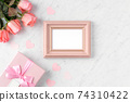 情人節 禮物 禮物盒 玫瑰 粉色 Valentine's Day rose gift バレンタイン 74310422