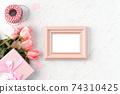 情人節 禮物 禮物盒 玫瑰 粉色 Valentine's Day rose gift バレンタイン 74310425