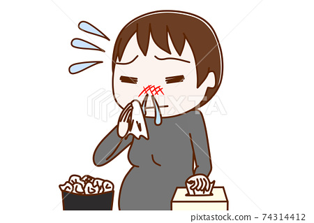 流鼻涕的孕婦 74314412