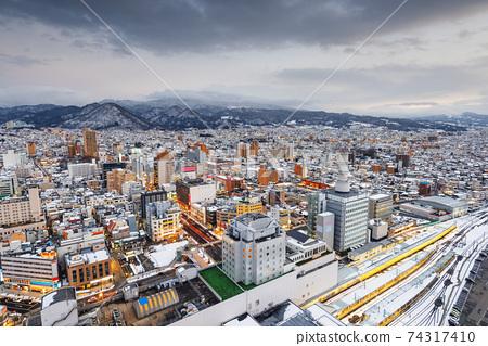 Yamagata, Japan Downtown Skyline 74317410