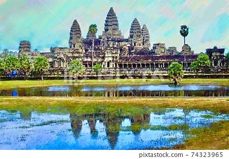 Landscape of Angkor Wat, Cambodia 74323965