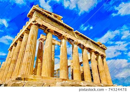 希臘帕台農神廟景觀 74324478