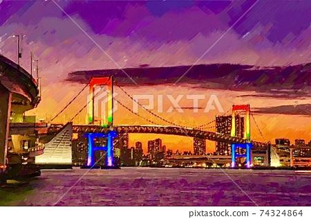 東京彩虹橋的風景 74324864