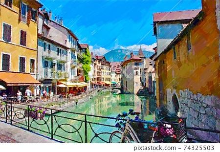 法國阿訥西城市景觀 74325503