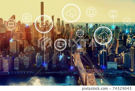 Cloud computing with New York City 74329043