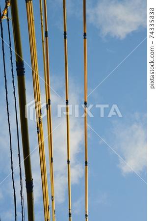 푸른 하늘로 기다리고 바로 성장 노란 전선 커버 74335838