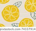 水果圖案背景檸檬橙 74337914