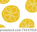 水果圖案背景檸檬橙 74337916