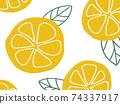 水果圖案背景檸檬橙 74337917
