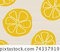 水果圖案背景檸檬橙 74337919