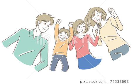 躺著微笑的家庭 74338698