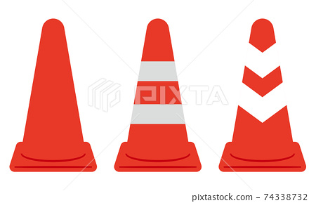 Illustration of a traffic cone 74338732