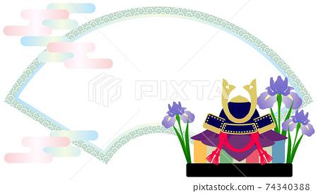 兒童節Dano no Sekku裝飾框架 74340388