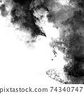 검은 물보라와 잉크의 배경 74340747
