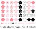 櫻花圖標集 74347049