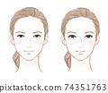 성인 얼굴 남자 · 여자 얼굴 74351763