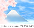櫻花舔富士山寫字符 74354543