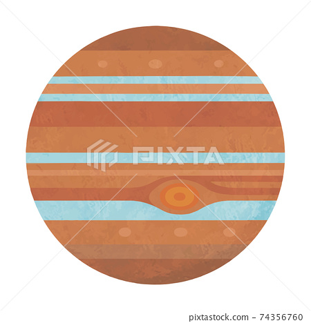Illustration of Jupiter Solar system planet Handwritten style 74356760