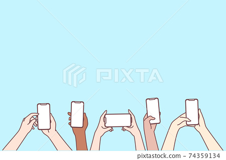 Smartphone screen, online communication, chatting concept 74359134