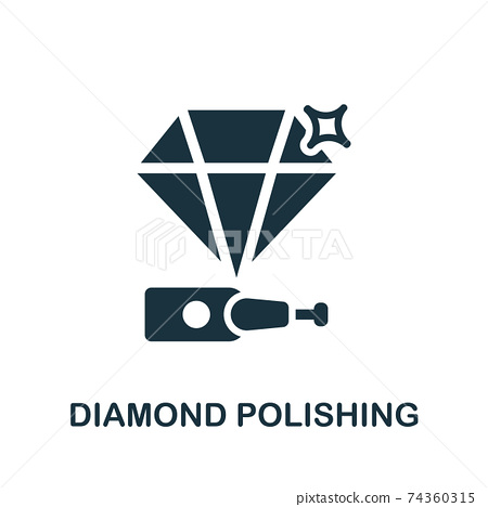Diamond Polishing icon. Simple element from jewelery collection. Creative Diamond Polishing icon for web design, templates, infographics and more 74360315