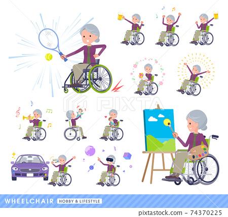 노인, 여성, 여자 74370225