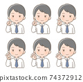 男性面部表情手指姿勢圖 74372912