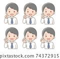 男性面部表情手指姿勢圖 74372915