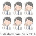 男性面部表情手指姿勢圖 74372916