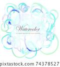 多彩的水彩風格背景矢量圖和一系列的圈子 74378527