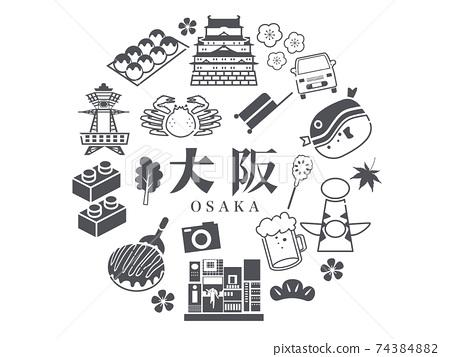 大阪觀光旅遊當地美食 74384882